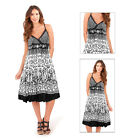Pistachio Womens Heart Crossover Front Midi Ladies Cotton Stappy Summer Dress