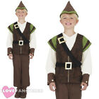 BOYS ROBIN HOOD COSTUME MEDIEVAL HUNTER CHILDS WORLD BOOK DAY FANCY DRESS