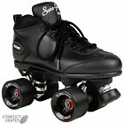 "SURE-GRIP ""Cyclone"" Quad Roller Skates Size 4 - 9 UK BLACK SALE Roller Derby"