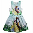 Beauty And The Beast Kids Girls Princess Party Cosplay Costume Fancy Dress Dress