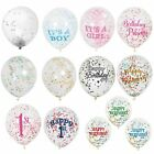 """6 x 12"""" Clear Confetti Filled Balloons Birthday Party Wedding Decorations"""