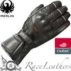 MERLIN HALO OUTLAST LEATHER WATERPROOF MOTORCYCLE MOTORBIKE BIKE GLOVES