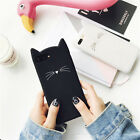 3D cute cartoon Beard cat silicone Rubber Soft case Cover for iPhone 7 6 6S Plus