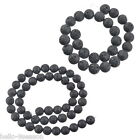 1Strand New Black Volcanic Stone Beads For Fashion Bead Chains Jewelry Findings