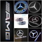 2x MERCEDES BENZ PROJECTOR CAR DOOR LED LIGHTS PUDDLE GHOST LASER COURTESY LOGO
