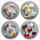 5X Flower Full Covered Hair Clips For Kids Girls Baby Hair Accessories JR