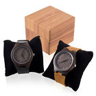 US Wristwatch Wooden Quartz Watch Men Male Casual Wood Analog Watch w/ Box image