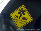 Medical Oxygen on Board with Star of Life symbol - Adhesive Sticker
