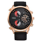 Luxury Men Automatic Mechanical Date Stainless Steel Leather Sport Wrist Watches