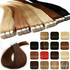 50cm in inch - Tape in Remy Human Hair Extensions Virgin Ombre PU Skin Weft Full Head 20/40pcs