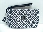 TOMMY HILFIGER Women's Wristlet/Wallet *Navy/Silver Clutch Cellphone Holder New