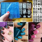 10 Design Stencil Nail Art Image Stamp Stamping Plate Manicure Template Tool DIY