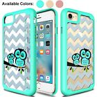 For iPhone 8/7//6/6s/ Plus Cute Owl Shockproof Rugged Slim Hard Phone Case Cover