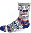 Denver Broncos NFL Football Ugly Christmas Sweater Crew Socks Navy Orange $10.49 USD on eBay