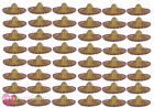 PACK OF 48 MEXICAN FIESTA SOMBRERO HAT WILD WEST FANCY DRESS COSTUME ACCESSORY