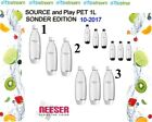 SodaStream x1/ x2/ x3 1 Liter PET Flaschen für Play & Source EASY ⚠ohne MHD TOP⚠