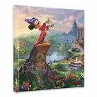 "(New) Thomas Kinkade Disney Dreams Collection ""Fantasia"" 14 x 14 Wrap"