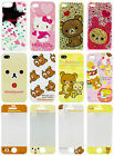 Rilakkuma & Hello Kitty Cell Phone Case & Protection Seal for iPhone 4, 4S & 5