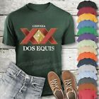 Dos Equis XX Lager Beer T-Shirt Custom Designed Worn Label Pattern
