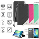 Samsung Galaxy S8, S8 Plus Wallet Case Leather Folio Wrist Strap Card Slots ID