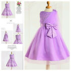 US Purples Wedding Party Dresses Bridesmaid Flower Girls Dress AGE SIZE 2 to 10Y