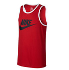 New** Nike Mens Ace Logo Tank Top Red/White All Sizes 779234-657 NEW WITH TAGS