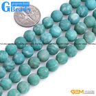 Natural Green Russian Amazonite Gemstone Frost Matte Round Beads Strand 15""