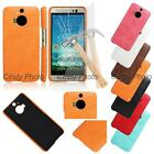For HTC One M9 Plus M9+ Glass Film Crocodile PU Leather Case Cover Tempered New