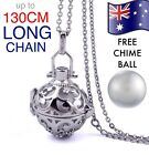 Crystal Angel Caller Chime Ball Pendant 925 Sterling Chain Harmony Necklace Gift