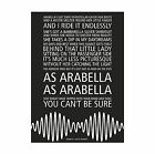 Arctic Monkeys AM - Arabella - Song lyric poster typography art print