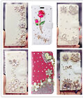 Diamond Bling Lady Rhinestone Flip Leather Wallet Crystal Phone Case Cover Pouch