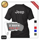 JEEP new SILVER PRINT T-SHIRT HQ PRINTING OFF ROAD LOVER CRAZY 2 DAYS SALE!