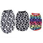 Pet Puppy Cat Skull Printed Cotton Costumes Pet Summer Vest T-shirt Clothes JR