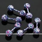 Candy Color Dots Stainless Steel Bar Barbell Ball Ear Tragus Cartilage Stud Ring