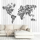 Vinyl Decal Wall Sticker Decorative World Map Ornament Decor