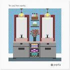 His And Hers Vanity Needlepoint Kit or Canvas (Home)