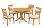 "M&D FURNITURE 36"" BROOKLINE DINETTE DINING ROOM TABLE SET IN OAK FINISH"