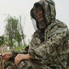 MEN Summer 3D Bionic Camouflage Jacket w/ Anti-mosquito Hood for Fishing Hunting