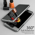Luxury 360° Hybrid PC Case & Tempered Glass Slim Cover for iPhone 6s 7 7Plus
