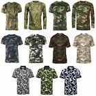 Mens Camouflage Gods Camo Tree print T shirt Polo Shirts Hexoflage Performance T