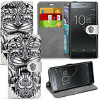 For Sony Xperia XZ Premium Phone Case Wallet Cover Leather + Screen Protector