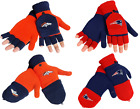NFL Team Color Winter Flip Top Glove Fingerless Mitten Convertible $18.88 USD on eBay