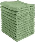 Wash cloths, Facial Towelettes, Cotton Hand Towels (12 Pack) 12x12 Inch