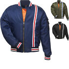 Black Retro Bomber Waterproof Motorcycle Jacket Motorbike MOD Scooter Bike Pilot