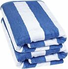 "Beach Towel Large Cabana Striped Blue Cotton 35x70"" by Utopia Towels"