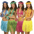 Hawaiian Hula Skirt Luau Garland Headband Wristband Fancy Dress Grass Costume