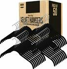 Premium Velvet Hanger Shirt Dress Hanger (Pack of 50) Heavy Duty Non Slip Velvet