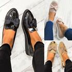 Womens Ladies Loafers Rose Gold Creeper Chunky Sole Bow Flats School Work Size