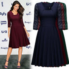 Women's Vintage Cocktail Evening Party Prom Casual Business Workwear Swing Dress