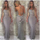 2017 Women's Sleeveless Maxi Dress Party Evening Beach Summer Boho Long Sundress